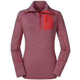 Schöffel Seekofel Longsleeve Shirt Women, red moscato